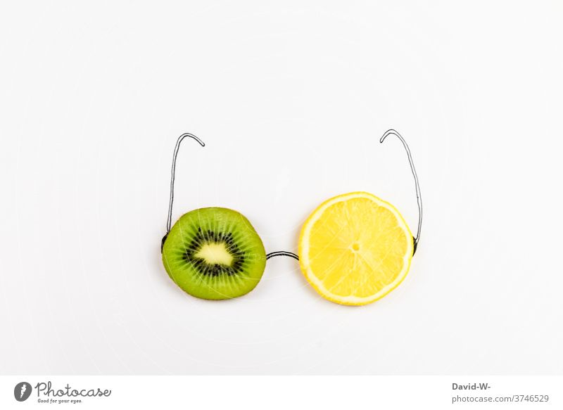healthy attitude fruit salubriously Healthy Eating Eyeglasses Fruity vitamins Vitamin-rich Kiwifruit Lemon Vitamin C peer a feast for the eyes