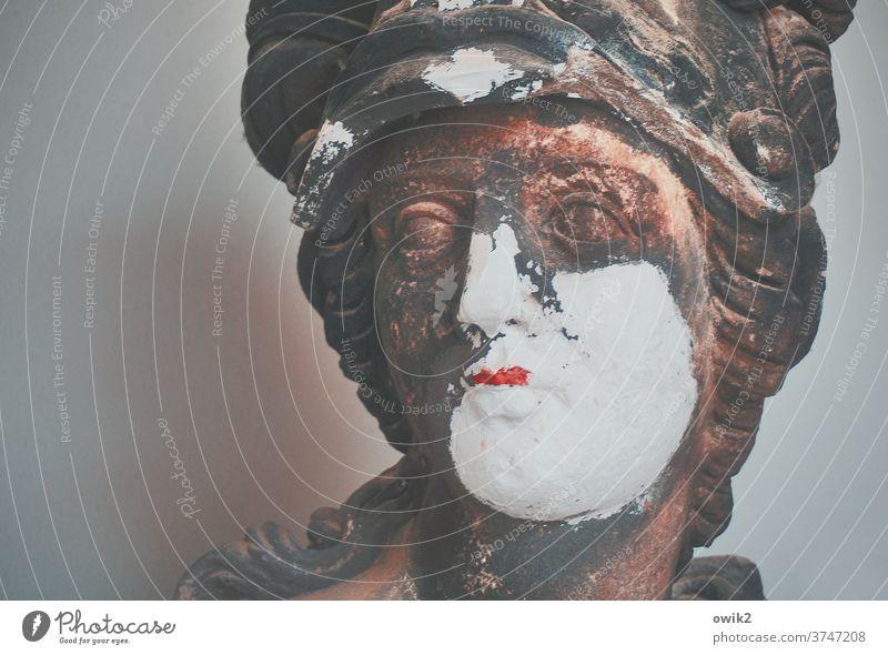 Behaviour conspicuous Face Woman Baroque Sculpture Torso Work of art Art Figure Exterior shot Colour photo Culture Deserted Stone Statue Old Town Architecture