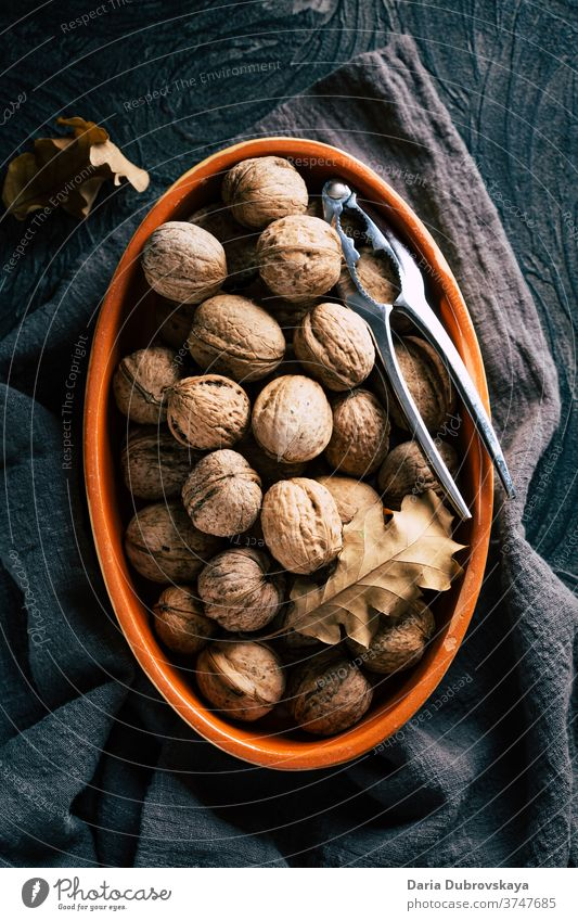 Walnuts in shell. Autumn concept fresh tasty autumn healthy background nutrition walnut food brown vegan raw nature ingredient organic diet walnuts snack rustic