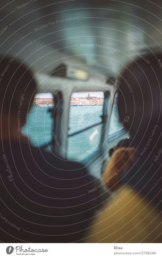 View from the vaporetto to the old town of Venice ship water taxi Window Italy Water Public transit Public transport Boating trip Passenger ship Navigation