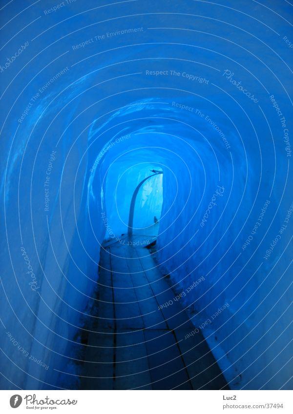 Blue Cold Ice Tunnel Glacier