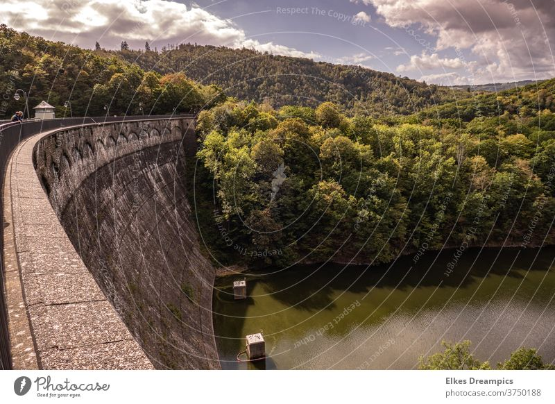 Urft dam in the Eifel, one of the oldest dams in Germany urftsee urft dam River dam National Park