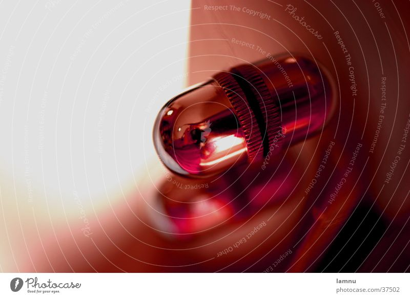 The light button Reflection Macro (Extreme close-up) Red Light Things Round Oval Obscure