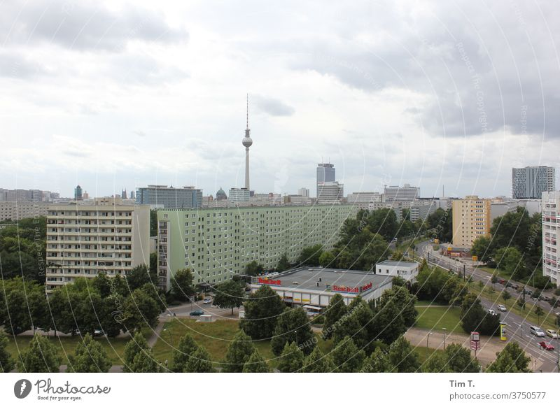 Berlin Places Television tower tv tower Capital city Town Downtown Exterior shot Berlin TV Tower Landmark Tourist Attraction Architecture Deserted Tourism