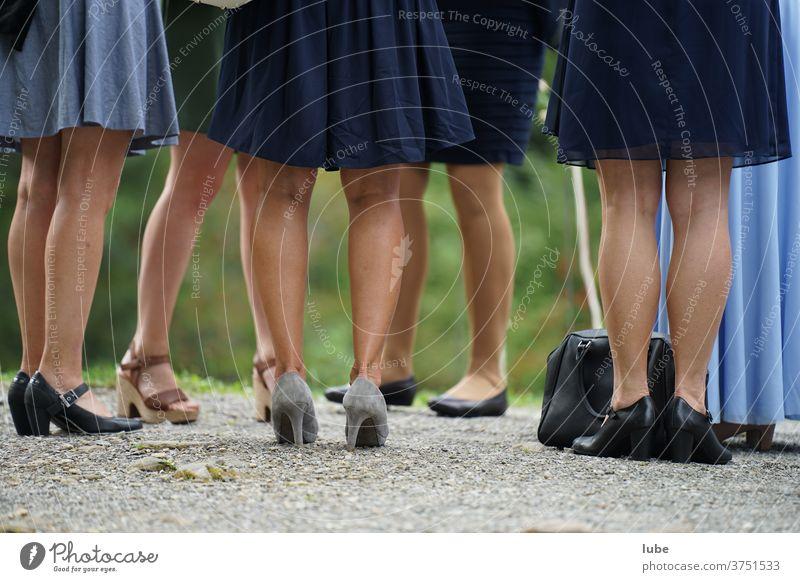 Beautiful legs Legs Women's legs feet Footwear Summer Stand Woman Dress Wedding wedding guests High heels Stockings celebration Firm Party