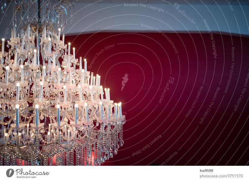 festive chandelier Chandelier Lamp Kitsch Crystal structure Luxury Antique Majestic Palace Electric bulb Lamplight Gigantic Lampshade Pearl Glass chandeliers