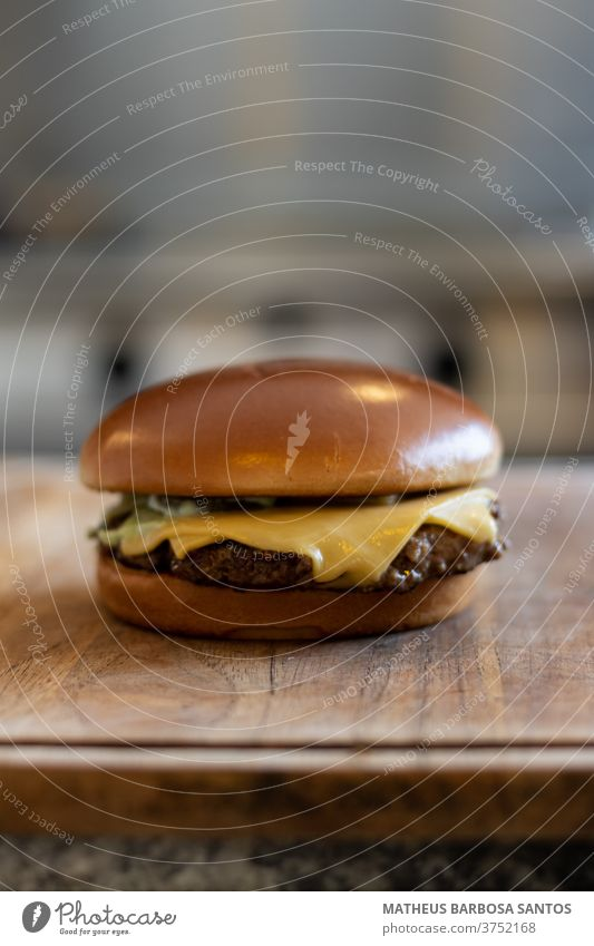 Cheese Burger burger chesse burger food beef meat meal lunch gourmet bread table