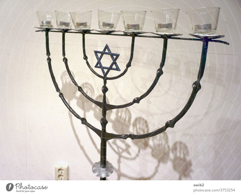 Good' Shabbats Menorah-im Metal Collector's item Religion and faith sign of faith Judaism Historic great Heavy Star of David Sign Wall (building) Wall (barrier)