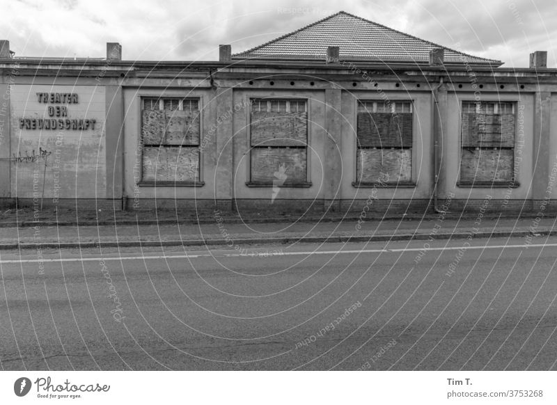 Culture in Brandenburg Theatre b/w B/W Brandenburg an der Havel Black & white photo B&W Calm Loneliness Architecture