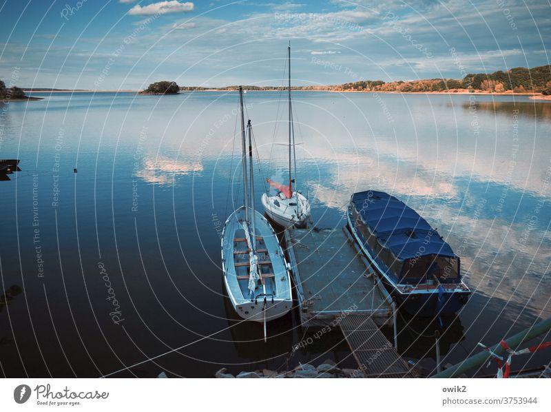 Getting other ideas Jetty Idyll Serene Beautiful weather Exterior shot Deserted Colour photo Horizon Calm Water Copy Space bottom Vacation & Travel