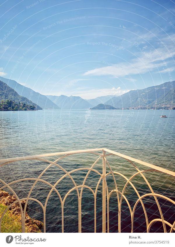 View of Lake Como near Bellagio northern italy Bella Italia vacation late summer Balcony Alps mountains Horizon