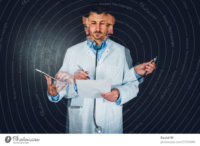 Doctor - Multitasking and multitask performance | do several things at once doctor multitasking Dexterity Stress time pressure talent Work and employment