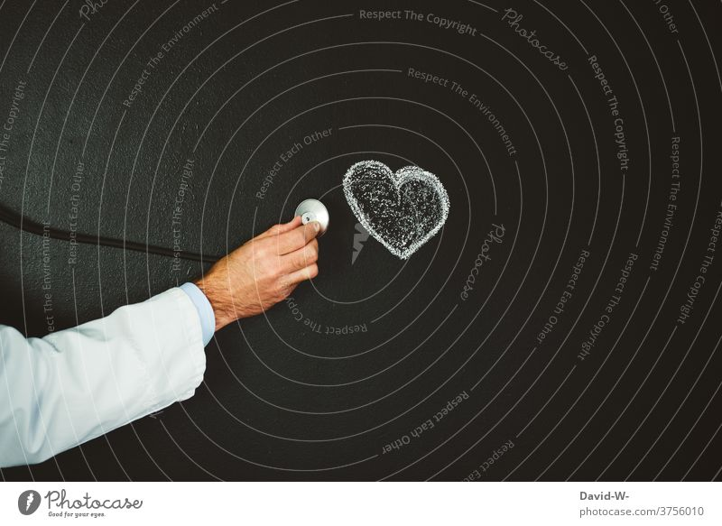 Doctor examines the heart Healthy investigation Heart cardiology Illness medicine Stethoscope Medical treatment care