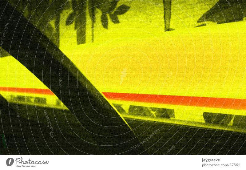 Yellow Wallpaper Neon light Flashy Photographic technology Hallstand Black light