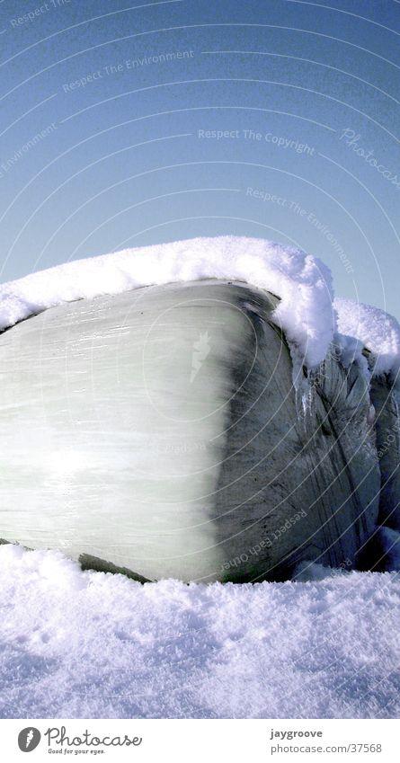 Sky Winter Snow Ice Silo