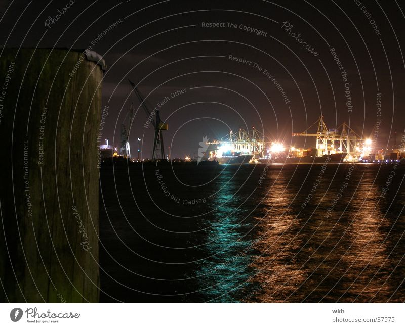 Watercraft Hamburg Harbour Navigation Crane Elbe