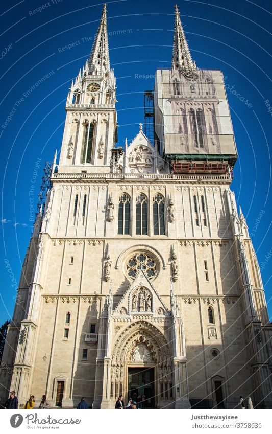 The Zagreb Cathedral Croatia Church Religion and faith Dome Architecture Tourist Attraction Landmark Manmade structures Building Tourism Vacation & Travel