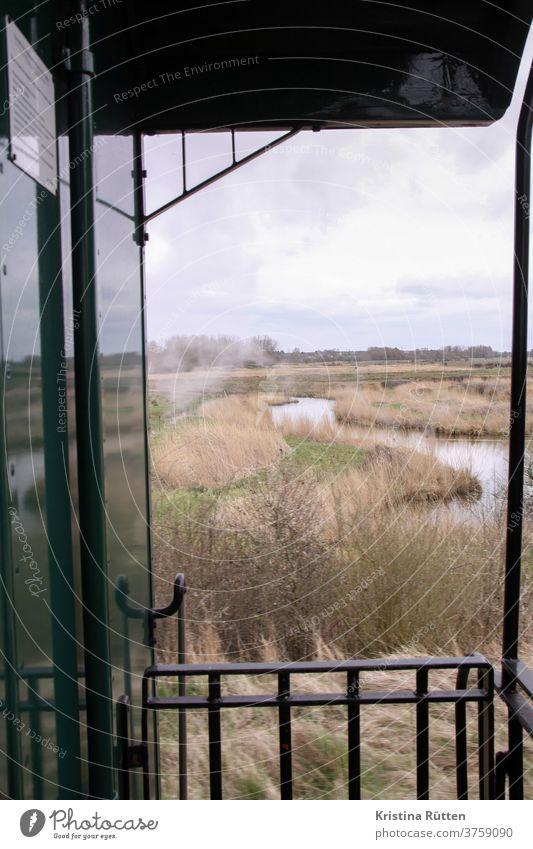 view of the salt marshes from the somme bay railway chemin de fer de la baie de somme museum railway Railroad Train Track steam path Historic Vantage point