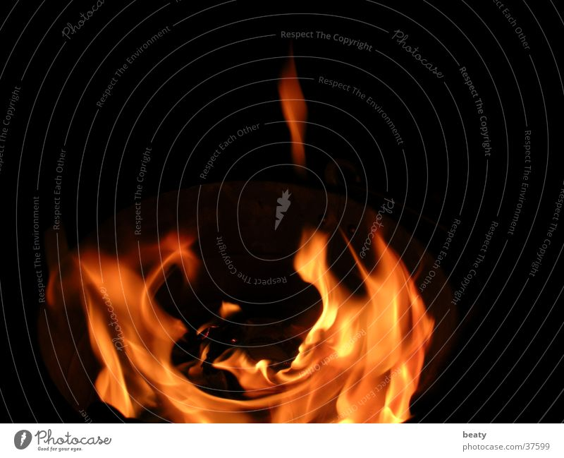 fire Blaze Hot Dark Physics Nocturnal fire Flame Warmth Fireplace