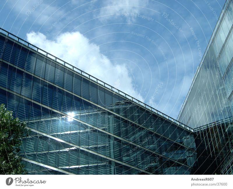 Glass facade Sonycenter Glas facade Sony Center Berlin House (Residential Structure) Reflection Potsdamer Platz Architecture Sky