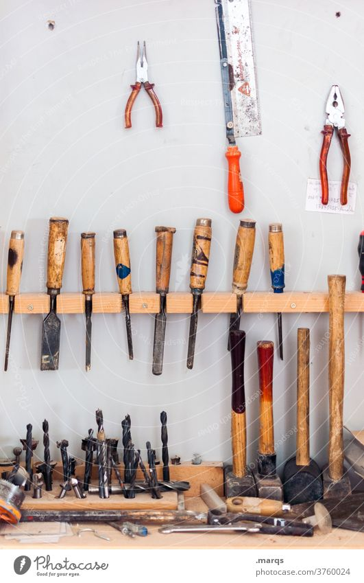 workshop Screwdriver Workshop Profession Repair Dirty Craft (trade) Workplace Craftsperson Work and employment Tool DIY wood warehouse Construction Rack tools