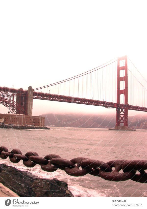 Rain Chain San Francisco North America Golden Gate Bridge