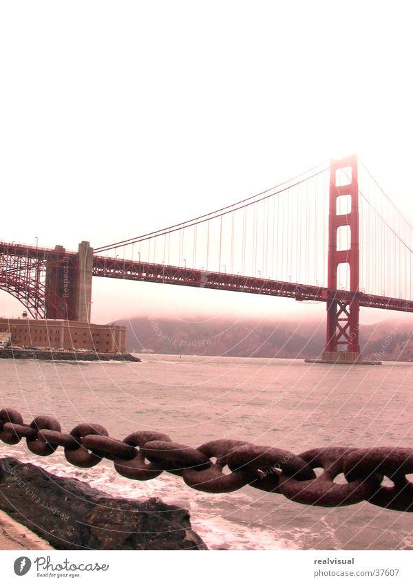 San Francisco Golden Gate Bridge Rain North America gloomy. ocean Chain