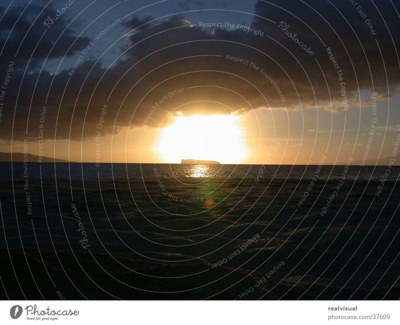 Maui - sunset Sunset Ocean Vacation & Travel Water Orange