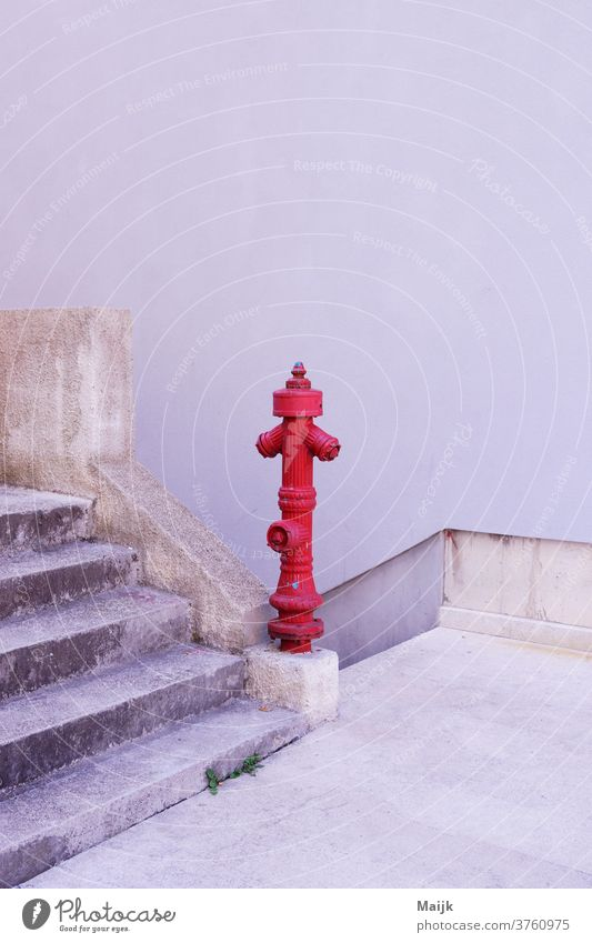 hydrant Water Fire hydrant Day daylight Stairs Croatia Red Street