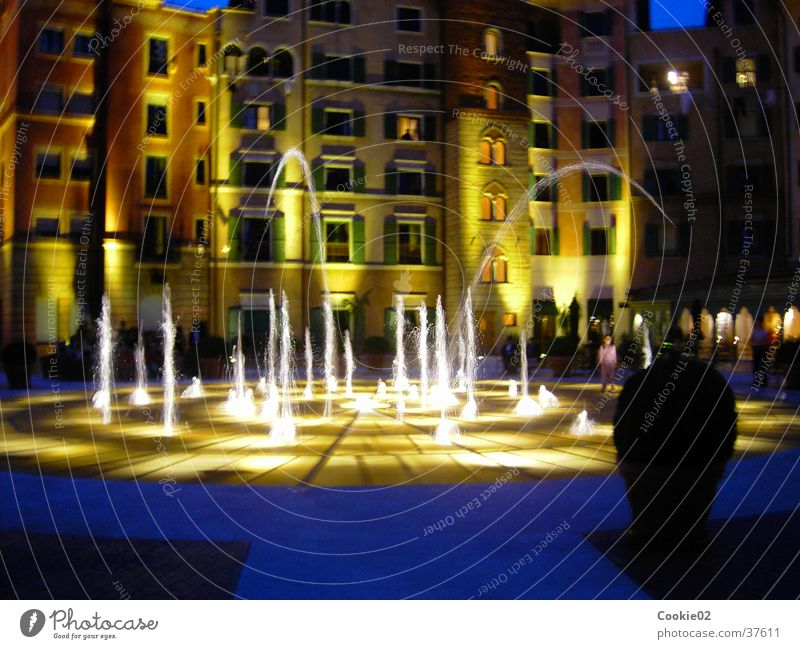 water features Water fountain Night Visual spectacle Leisure and hobbies Italian fountain