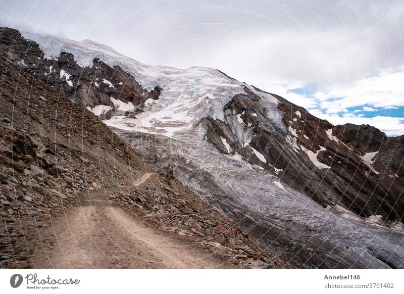 View of high mountains with rocks and ice landscape in Switzerland Fantastic Alps Europe europe sky blue switzerland snow swiss alps peak white alpine