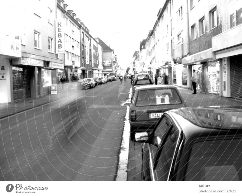 horizon House (Residential Structure) Long exposure Cologne Bicycle Transport Street Black & white photo