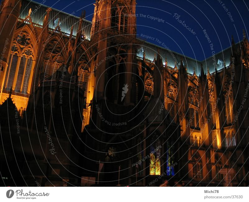 Cathedral of Metz Light Might Architecture metz Evening Lighting