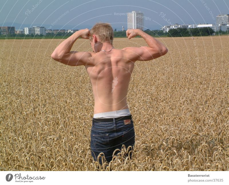 Nice back Field Posture Man Back Musculature