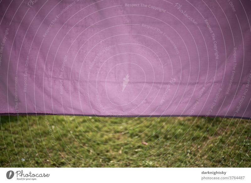 Purple coloured bed linen dries outside in the sun textile Laundry Washing day Clean Clothesline Household Clothing Clothes peg hang Housekeeping Dry