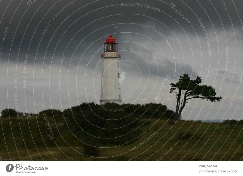 Sky Clouds Thunder and lightning Lighthouse Baltic Sea