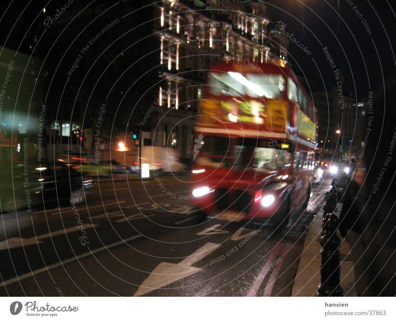 London night Night Motion blur Europe Bus
