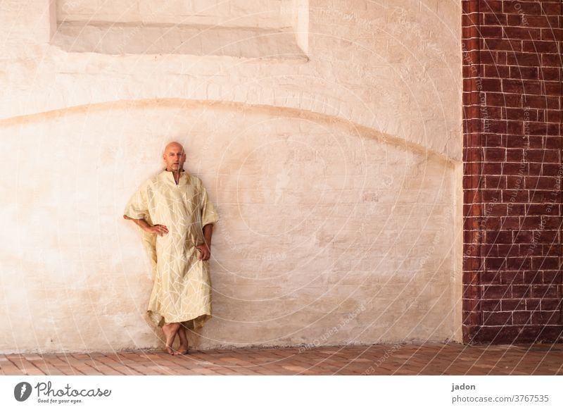 the moment after enlightenment. Monk pharaoh Religion and faith Buddhism Buddha Asia Belief Figure Art Awareness Meditation monasteries Wall (building)