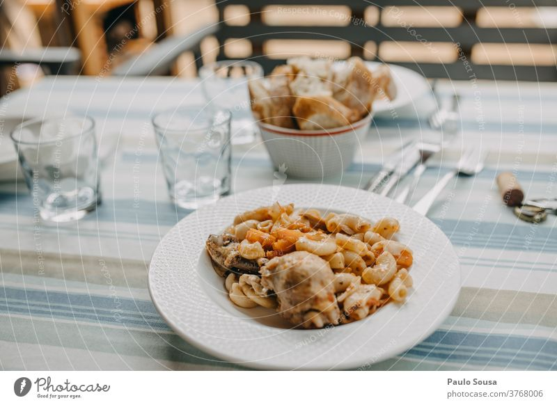 Pasta with chicken Italian Italian Food Mediterranean diet cuisine traditional homemade healthy food mediterranean dinner tasty italian cuisine pasta meal plate