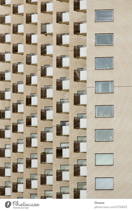 City House (Residential Structure) Window Architecture Building Gray Facade High-rise Handrail Manmade structures Claustrophobia Balcony Apartment Building