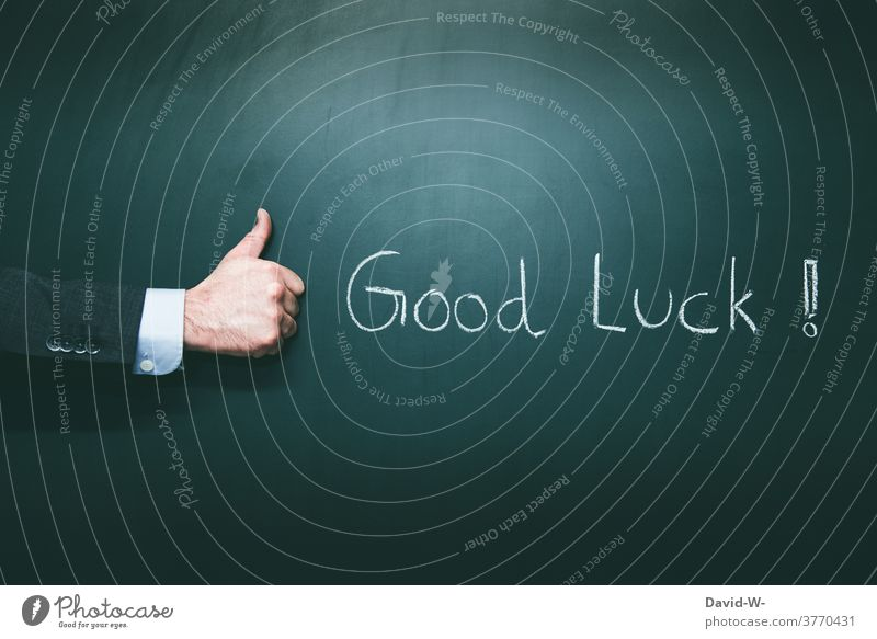 Good Luck - cross your fingers and wish good luck Thumbs up Pushing Positive Success Human being Optimism English words