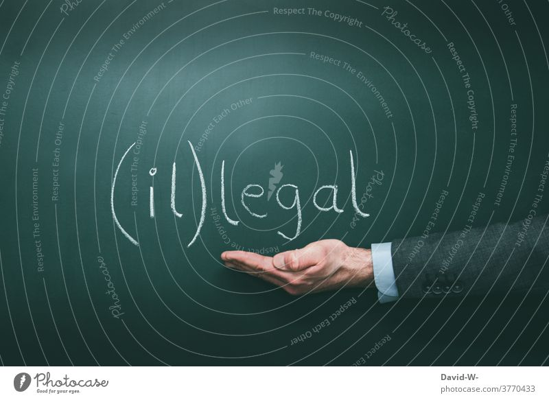 illegal or legal illicit by hand Interpret Insecure punishable law grey zone Word Illegal