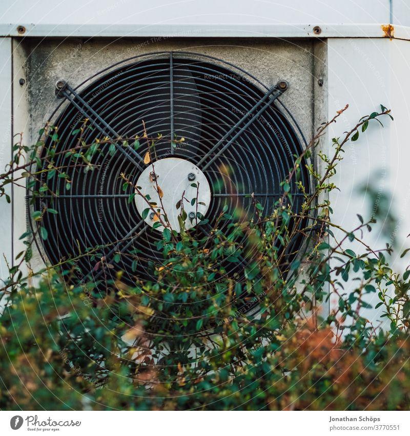 Fan, external ventilation on a building External ventilation Air conditioning Ventilate Ventilation Technology Electrical equipment Deserted Rotation Housing