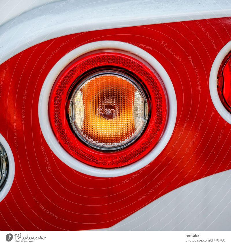 Rear light motorhome close up Light (Natural Phenomenon) Reflection Deserted Close-up Exterior shot Colour photo Motor vehicle Indicator light Esthetic Stern