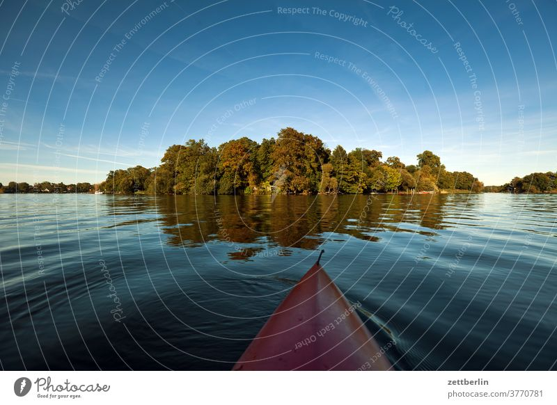 Valentinswerder in Lake Tegel Trip boat Relaxation holidays River Channel Landscape Nature Paddle canoe Rowboat ship Navigation Summer Sports Pond bank vacation