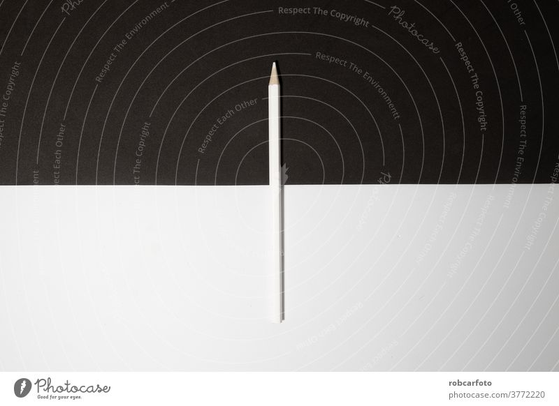 white wooden pencil on black and white background. sharp isolated eraser school graphite education draw art design object tool equipment work write drawing