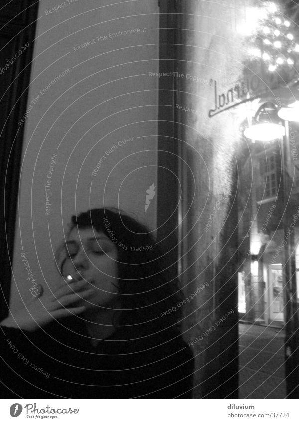 le café I Woman Cigarette Café Window Table journal Smoking Black & white photo