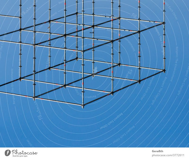 metal structure connection of structures abstract abstract background affiliation apposition attachment backdrop blue close-up color combination communications