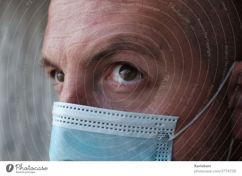 Man with mask Mask Corona virus coronavirus COVID pandemic Risk of infection Healthy prevention Contagious Infection covid-19 Quarantine Health care