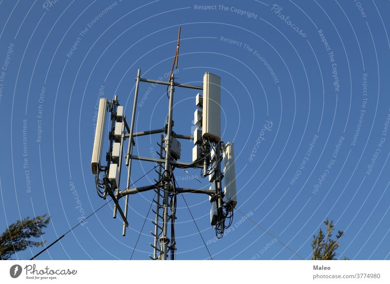 Antenna systems for telecommunication against the blue sky aerial antenna broadcast broadcasting cell cellular channel cloud communicate connection dish